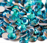 Blue Zircon --- SS6 144 pcs ---  Crystal Flatback Rhinestone #2028  ---  lovekitty