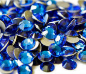 Sapphire   --- SS16 144 pcs ---  Crystal Flatback Rhinestone #2028  ---  lovekitty