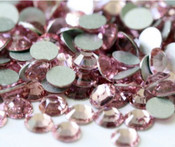 Light Rose --- SS12 144 pcs ---  Crystal Flatback Rhinestone #2028  ---  lovekitty