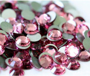 Rose --- SS6 144 pcs ---  Crystal Flatback Rhinestone #2028  ---  lovekitty
