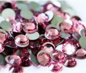 Rose --- SS16 144 pcs ---  Crystal Flatback Rhinestone #2028  ---  lovekitty