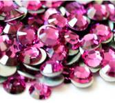 Fuchsia --- SS6 144 pcs ---  Crystal Flatback Rhinestone #2028  ---  lovekitty