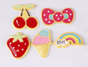 5 pcs Set flatback Kawaii Resin Cobochons  ---  by lovekitty