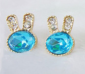 Sale !!!! Fashion Jewelry ---- Light Blue Bunny Stud Earring