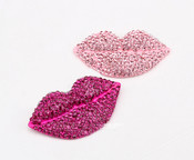 1 Piece Fuchsia Lips Rhinstones bling bling deco piece -- by lovekitty