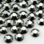 Silver  Black --- 5mm 1000 pcs --- Rhinestones Round Flat back 14-facet ( High Quality ) --- lovekitty
