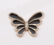 1 Piece Black Butterfly Rhinstones bling bling deco piece -- by lovekitty