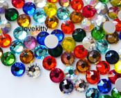 Mixed Colors  --- SS6 144 pcs ---  Crystal Flatback Rhinestone #2028  ---  lovekitty