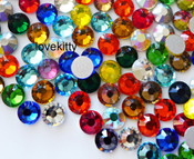 Mixed Colors  --- SS16 144 pcs ---  Crystal Flatback Rhinestone #2028  ---  lovekitty