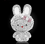 1 Piece Bunny Rhinstones bling bling deco piece -- by lovekitty