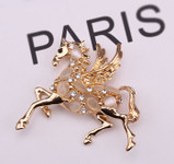 1 Piece horse with wings Rhinstones bling bling deco piece -- by lovekitty