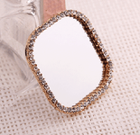 1 Piece Square Mirror bling bling deco piece -- by lovekitty
