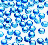 Sky Blue  --- 1000 pcs 3mm & 5mm ---Rhinestones Round Flat back 14-facet ( High Quality ) --- lovekitty