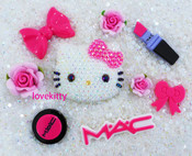 Sale !!! DIY Blinged Out AB Jelly Hello Kitty Phone Case Resin Cabochons Deco Kit Z413 --- lovekitty