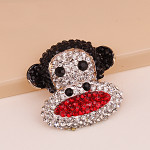 1 pc Large Monkey Rhinstones bling bling Alloy deco piece -- by lovekitty
