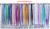 1 pc New Rhinestone Crystal Bling Bling Lanyard ID Badge Cell Phone / Key Holder -- by lovekitty