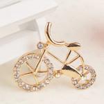 1 pc Bike Rhinstones bling bling Alloy deco piece -- by lovekitty