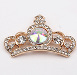 1 pc AB Rhinstones Crown bling bling Alloy deco piece -- by lovekitty