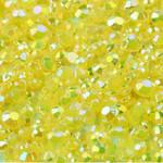 Yellow --- 500 pcs -- 3mm  AB Jelly Resin Flatback Rhinestones  --- lovekitty