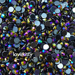 Black --- 500 pcs -- 5mm  AB Jelly Resin Flatback Rhinestones  --- lovekitty