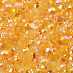 Orange --- 500 pcs -- 5mm  AB Jelly Resin Flatback Rhinestones  --- lovekitty