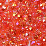 Red --- 500 pcs -- 5mm  AB Jelly Resin Flatback Rhinestones  --- lovekitty