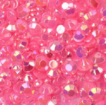 Fuchsia --- 500 pcs -- 5mm  AB Jelly Resin Flatback Rhinestones  --- lovekitty
