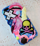 DIY 3D Skull Flatback Resin Cabochons Cell Phone Case Deco Kit / Set Z430 (not a finished product) -- lovekitty