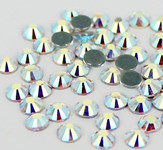 AB Clear -- Hotfix Glass Crystal Rhinestone -- 1440 pcs / Pack Flatback Round High Quality Compare to SWAROVSKI