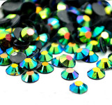 AB Dark Green--- 500 pcs -- 5mm  AB Jelly Resin Flatback Rhinestones  --- lovekitty