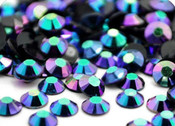 AB Dark Blue --- 500 pcs -- 5mm  AB Jelly Resin Flatback Rhinestones  --- lovekitty