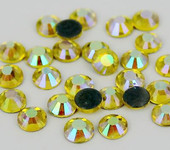 AB Lemon Yellow -- Hotfix Glass Crystal Rhinestone -- 1440 pcs / Pack Flatback Round High Quality Compare to SWAROVSKI