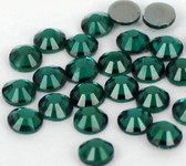 Dark Green -- Hotfix Glass Crystal Rhinestone -- 1440 pcs / Pack Flatback Round High Quality Compare to SWAROVSKI