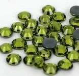 Olive Green -- Hotfix Glass Crystal Rhinestone -- 1440 pcs / Pack Flatback Round High Quality Compare to SWAROVSKI