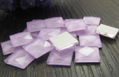 Lavender -- 30 pieces 10mm Square Flatback Glass Rhinestones ( Gems ) by lovekitty