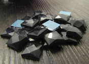 Black  -- 30 pieces 10mm Square Flatback Glass Rhinestones ( Gems ) by lovekitty