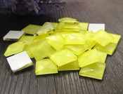 Lemon Yellow -- 30 pieces 10mm Square Flatback Glass Rhinestones ( Gems ) by lovekitty