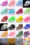 24 colors -- 8mm 100 pieces flatback resin Iridescent AB Pearl Cabochons ( 24 colors to choose )