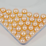 800 pieces Champagne Mixed Sizes Round Pearl Cabochons ( no hole )-- lovekittybling