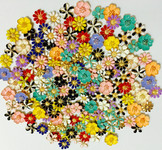 10 pieces Assorted Flowers  Alloy deco piece Decoden Piece Flatback bling bling -- by lovekitty