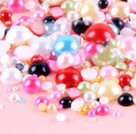 800 pieces Mixed Colors & Mixed Sizes Flatback Pearl Cabochons -- by lovekitty