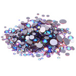 AB Lt Amethyst -- Crystal Glass Rhinestones Flatback High Quality no hotfix Wholesale Pack Lot -- SS4-SS30 Choose your size Compare to SWAROVSKI