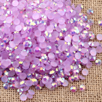 AB Lavender - 1000 2mm 3mm 4mm 5mm or 100 6mm Jelly AB Flatback Resin Rhinestones Candy Cab Nail Art / DIY Deco Bling Kit Embellishment-- lovekitty
