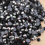 AB Silver Black - 1000 2mm 3mm 4mm 5mm or 100 6mm Jelly AB Flatback Resin Rhinestones Candy Cab Nail Art / DIY Deco Bling Kit Embellishment-- lovekitty