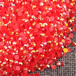 AB Red - 1000 2mm 3mm 4mm 5mm or 100 6mm Jelly AB Flatback Resin Rhinestones Candy Cab Nail Art / DIY Deco Bling Kit Embellishment-- lovekitty