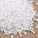 AB White - 1000 2mm 3mm 4mm 5mm or 100 6mm Jelly AB Flatback Resin Rhinestones Candy Cab Nail Art / DIY Deco Bling Kit Embellishment-- lovekitty