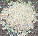 AB transparent clear - 1000 2mm 3mm 4mm 5mm or 100 6mm Jelly AB Flatback Resin Rhinestones Candy Cab Nail Art / DIY Deco Bling Kit Embellishment-- lovekitty