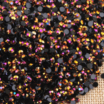 AB Black Rose Gold - 1000 2mm 3mm 4mm 5mm or 100 6mm Jelly AB Flatback Resin Rhinestones Candy Cab Nail Art / DIY Deco Bling Kit Embellishment-- lovekitty
