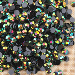Ab Black Green - 1000 2mm 3mm 4mm 5mm or 100 6mm Jelly AB Flatback Resin Rhinestones Candy Cab Nail Art / DIY Deco Bling Kit Embellishment-- lovekitty