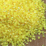 AB Lemon Yellow - 1000 2mm 3mm 4mm 5mm or 100 6mm Jelly AB Flatback Resin Rhinestones Candy Cab Nail Art / DIY Deco Bling Kit Embellishment-- lovekitty